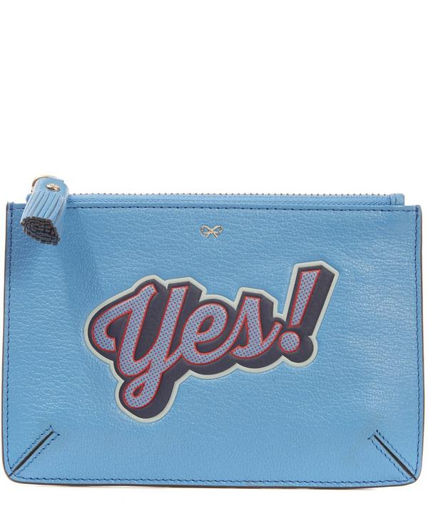 Yes! Printed Leather Pouch