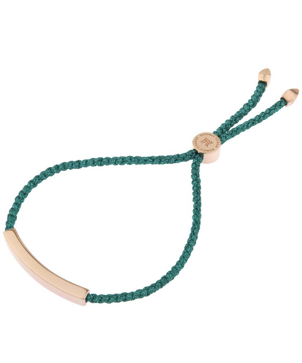 Rose Gold-Plated Linear Turquoise Cord Friendship Bracelet