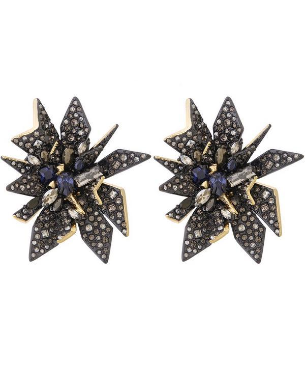 Two-Tone Perennial Punk Clip Earrings