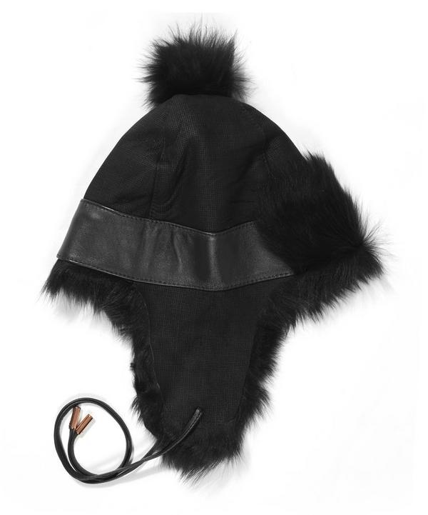 Toscana Lambskin Pom Pom Trapper Hat