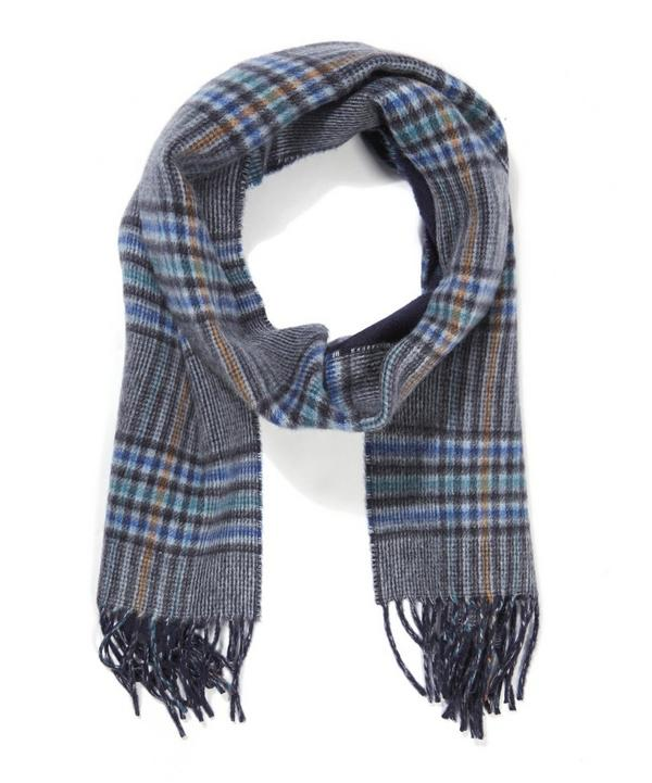 Cashmere Windowpane Reversible Scarf