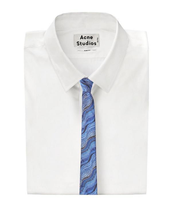 Tonal Wavy Line Tie