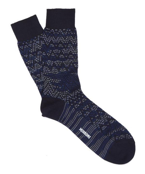 Ombre Zig Zag Socks