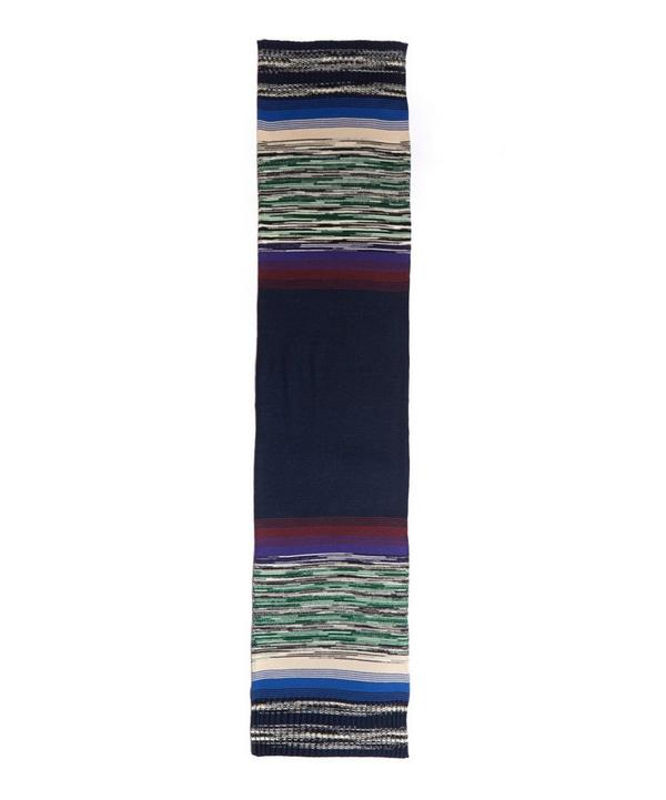 Knitted Space Dye Stripe Scarf