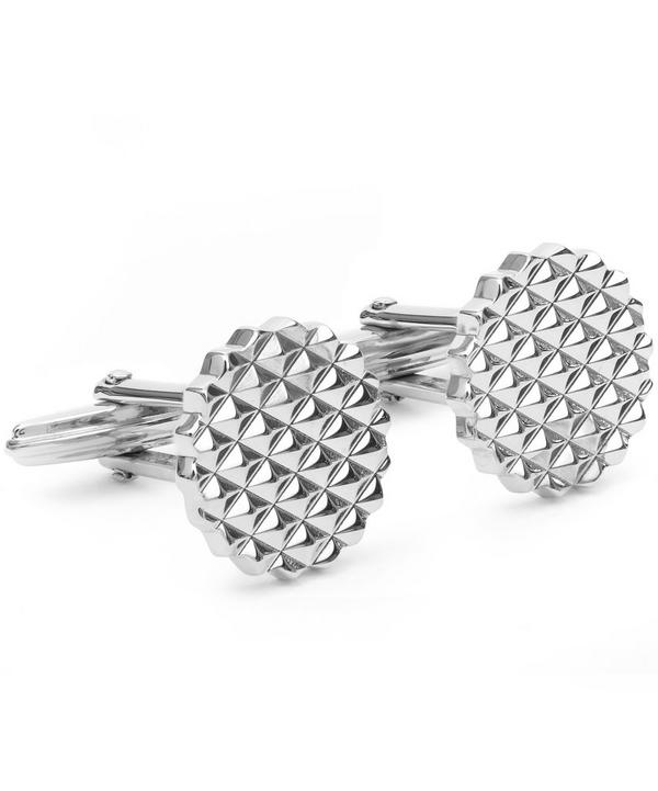 Circle Quilted Cufflinks