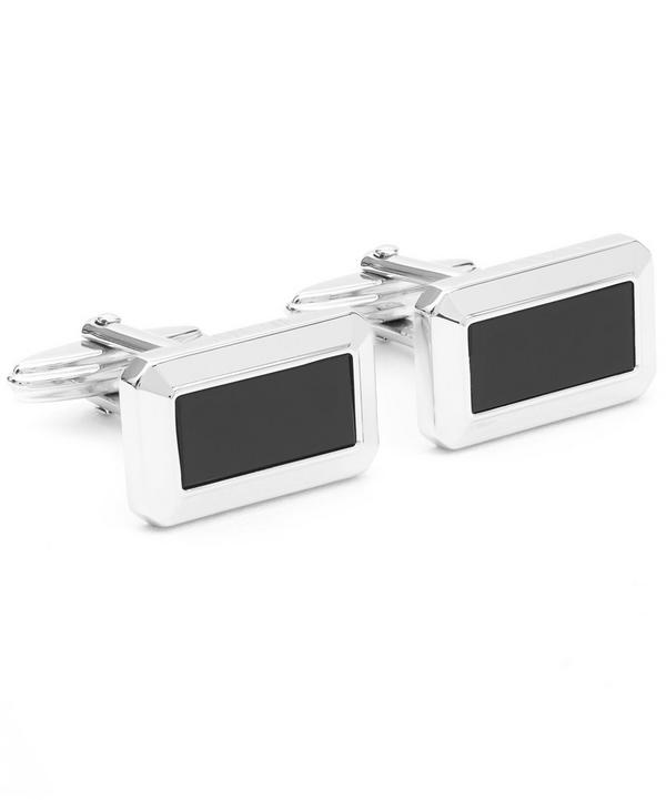 Rectangular Onyx Cufflinks