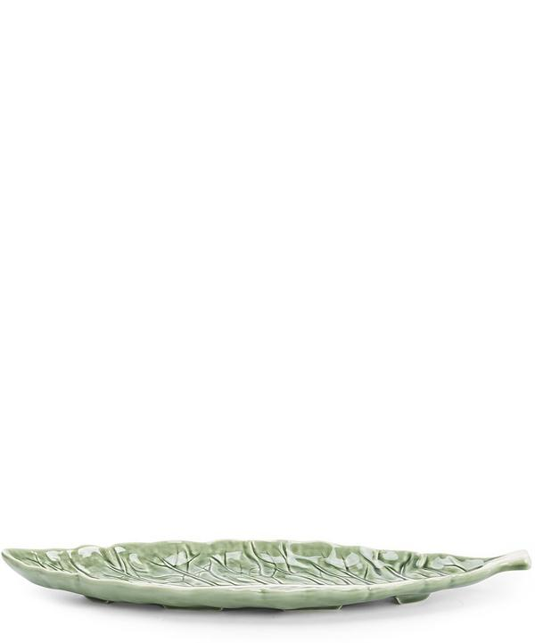 Cabbage Leaf Narrow Serving Platter