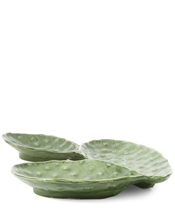 Three Leaf Cactus Plate