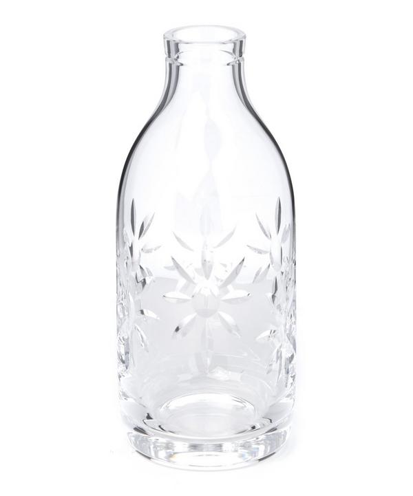 Crystal Flower Milk Bottle