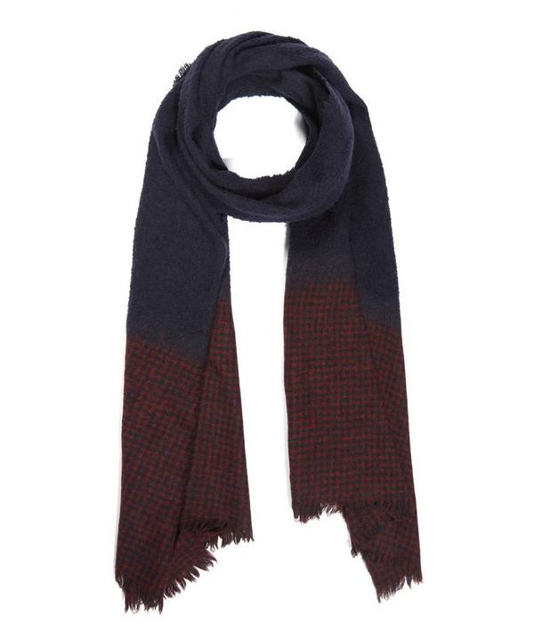 Fluffy Stola Check Scarf