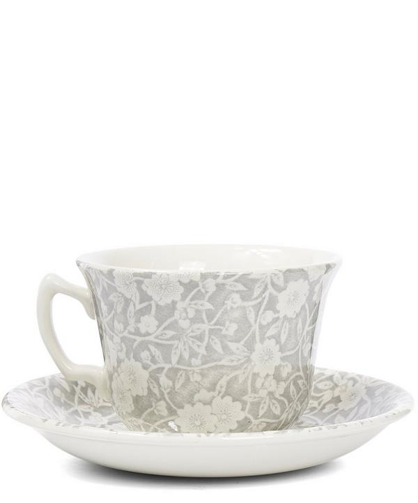 Calico Tea Cup and Saucer