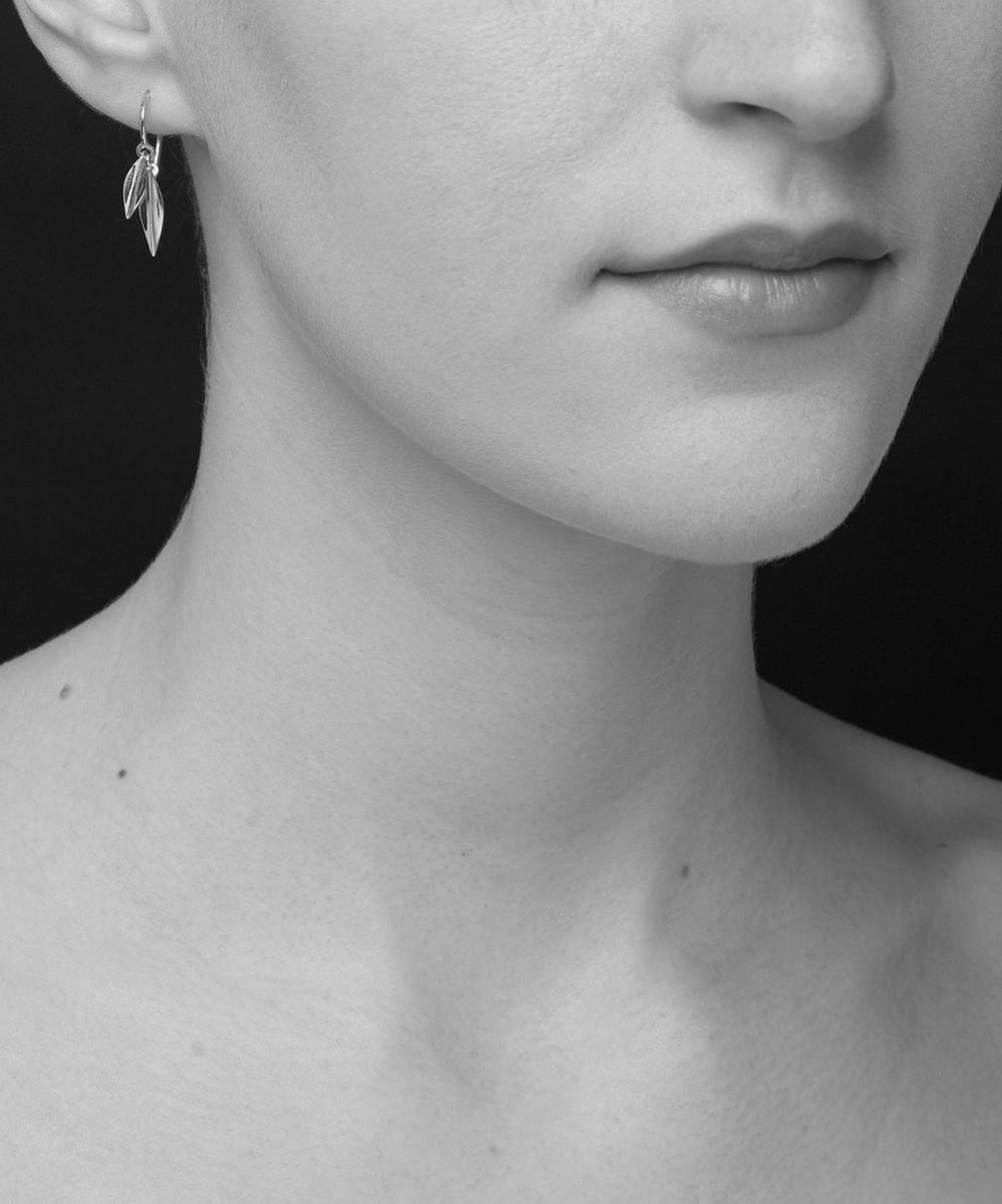Lotus Double Leaf Drop Earrings