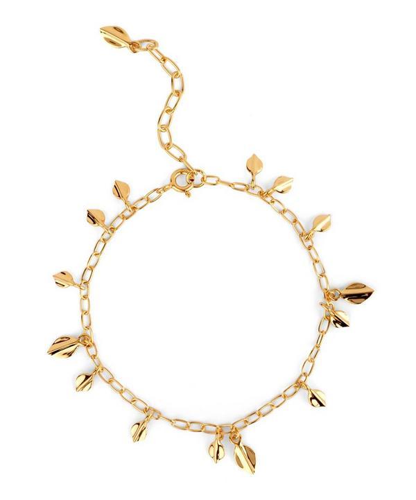 Gold-Plated Bijou Lotus Petal Bracelet
