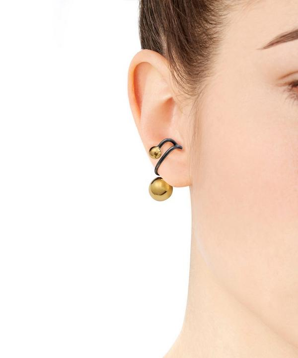 Gold and Black Rhodium Orion Earcuff
