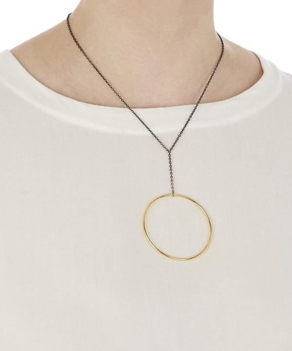 Gold and Black Rhodium Norma Maxi Necklace