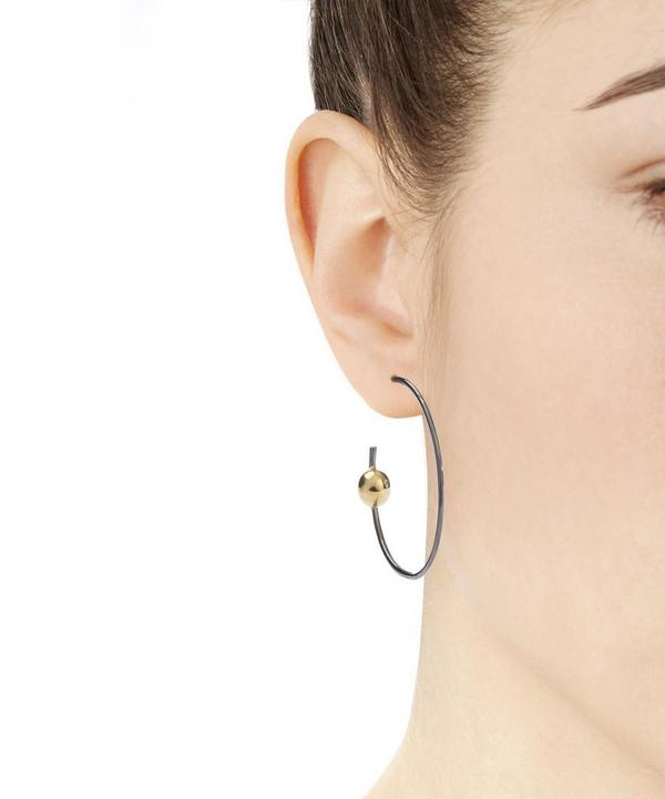 Silver Orion Hoop Earring