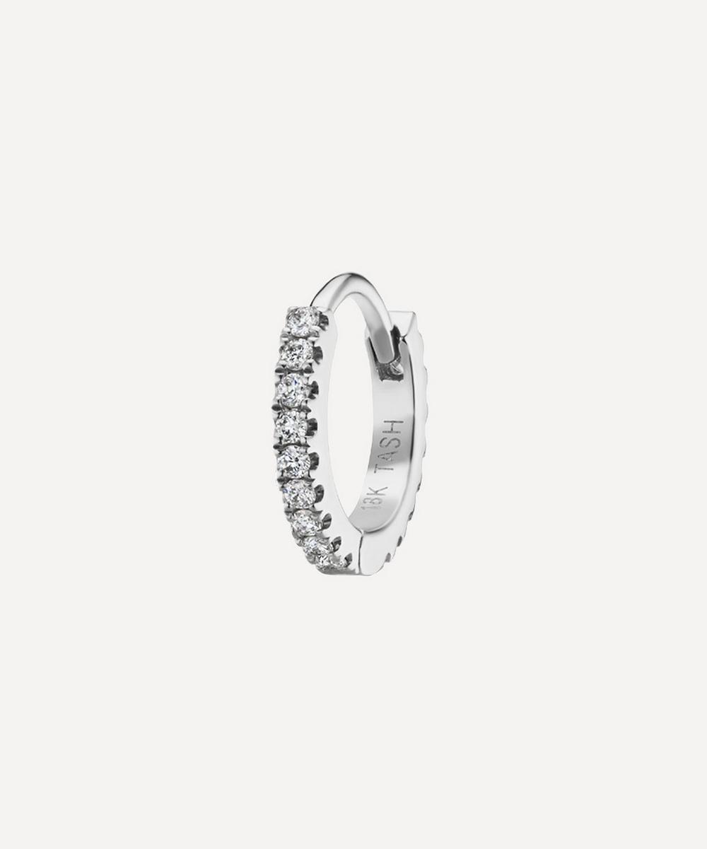 1/4' Diamond Eternity Hoop Earring