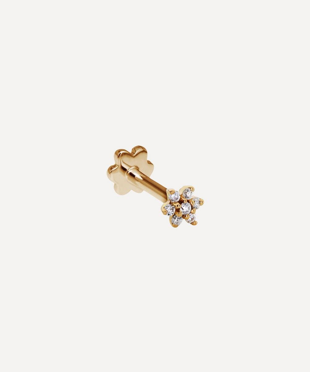 3mm Diamond Flower Threaded Stud