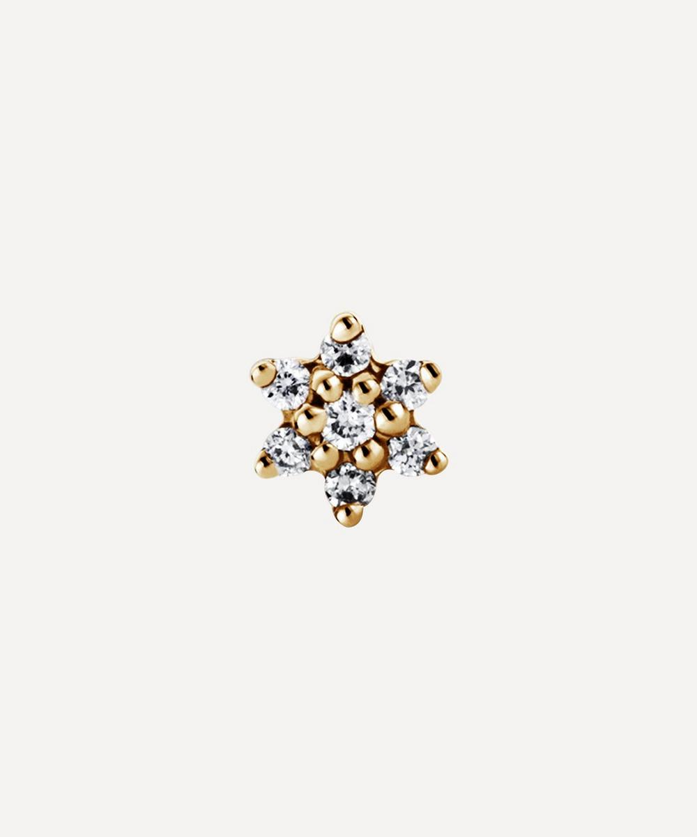 3mm Diamond Flower Threaded Stud
