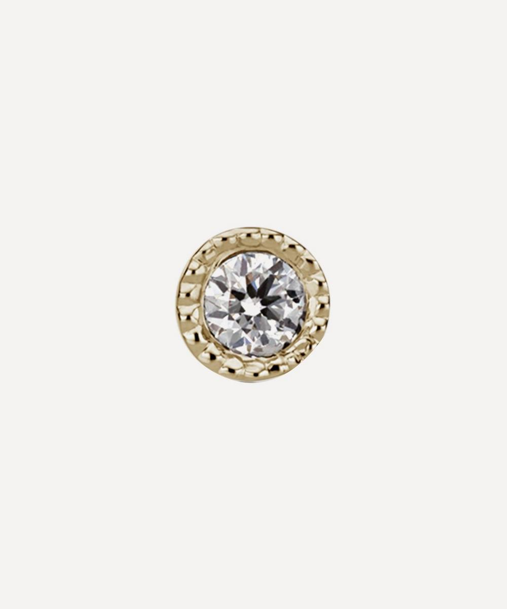1.5mm Scalloped Set Diamond Threaded Stud
