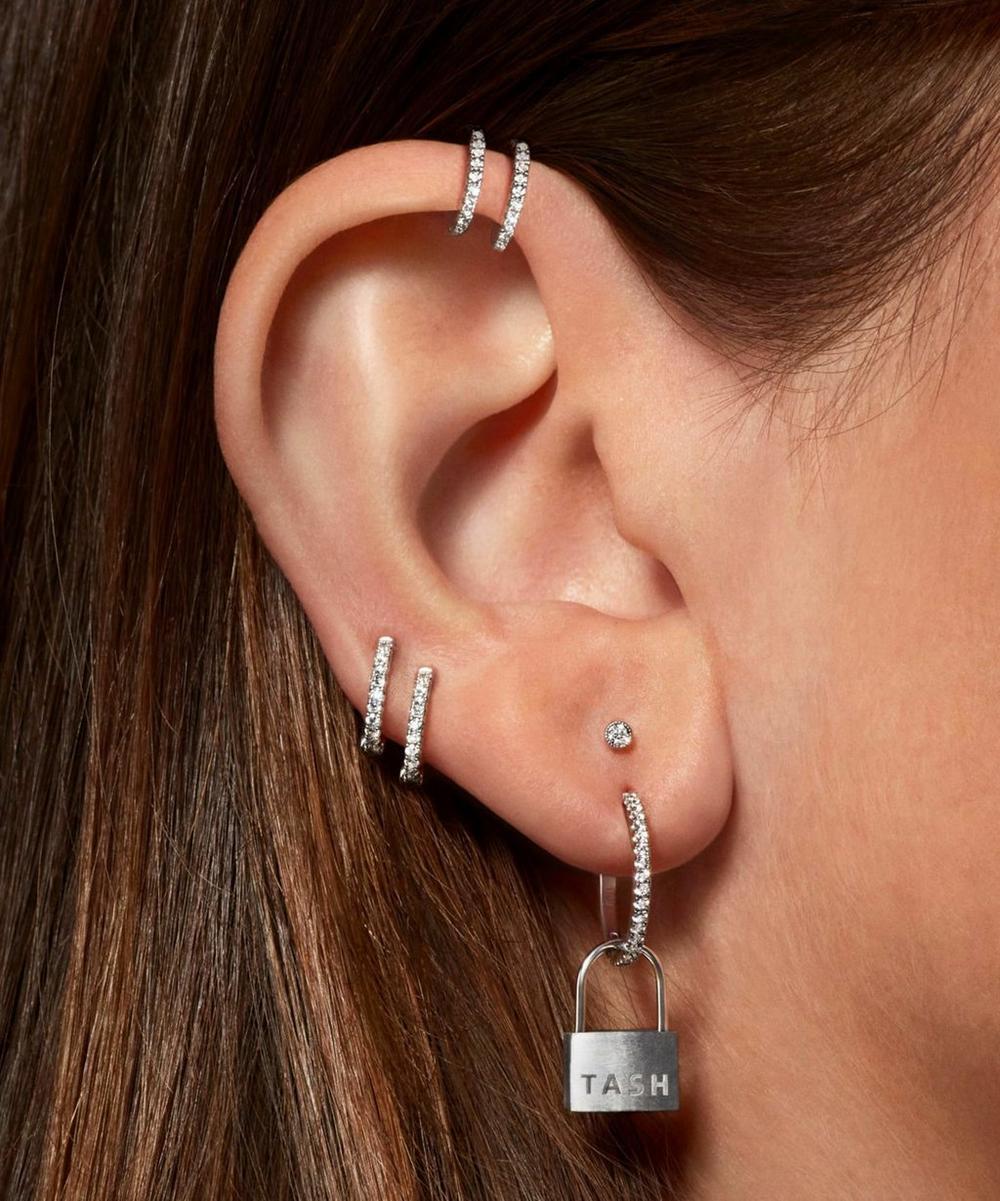2mm Scalloped Set Diamond Threaded Stud