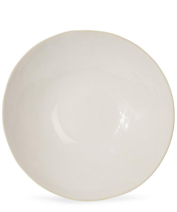 White Glaze Large Salad Bowl