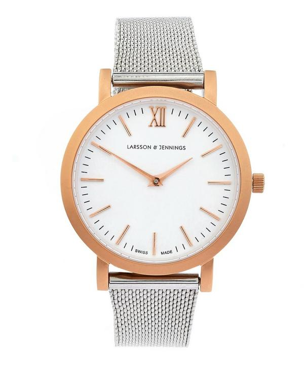 Lugano 33mm Rose Gold-Silver Milanese Exclusive Watch