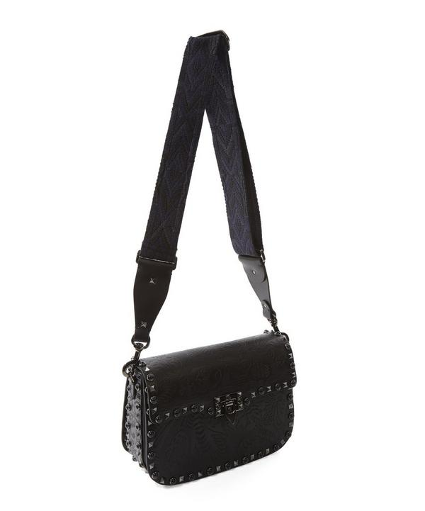 Guitar Rockstud Rolling Cross Body Bag