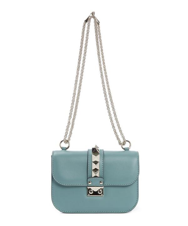 Rockstud Lock Leather Shoulder Bag
