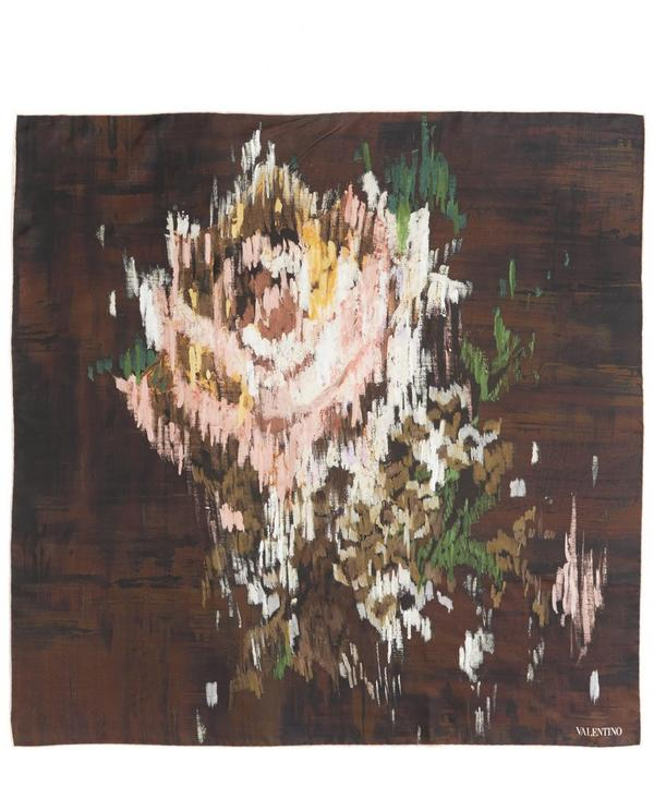 Chine Rose Print Silk Scarf