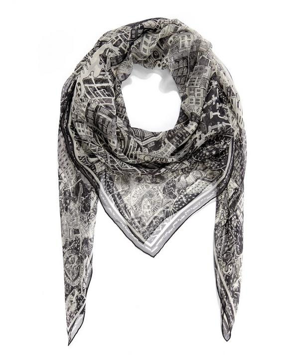 McQueen Loves London Chiffon Scarf