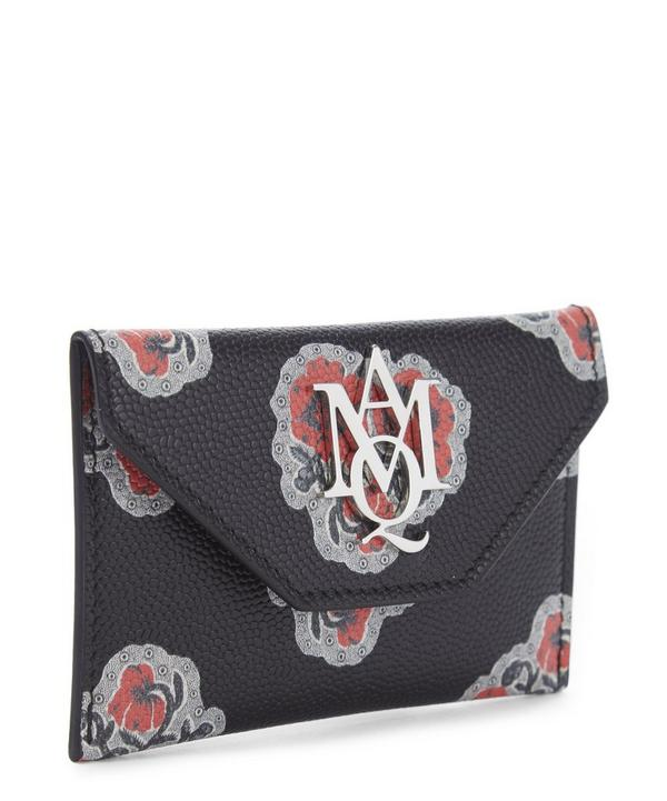 Insignia Poppies Leather Envelope Card Holder