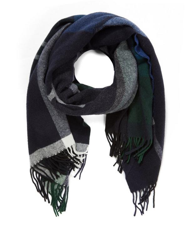 Tableau Lambswool Patchwork Scarf