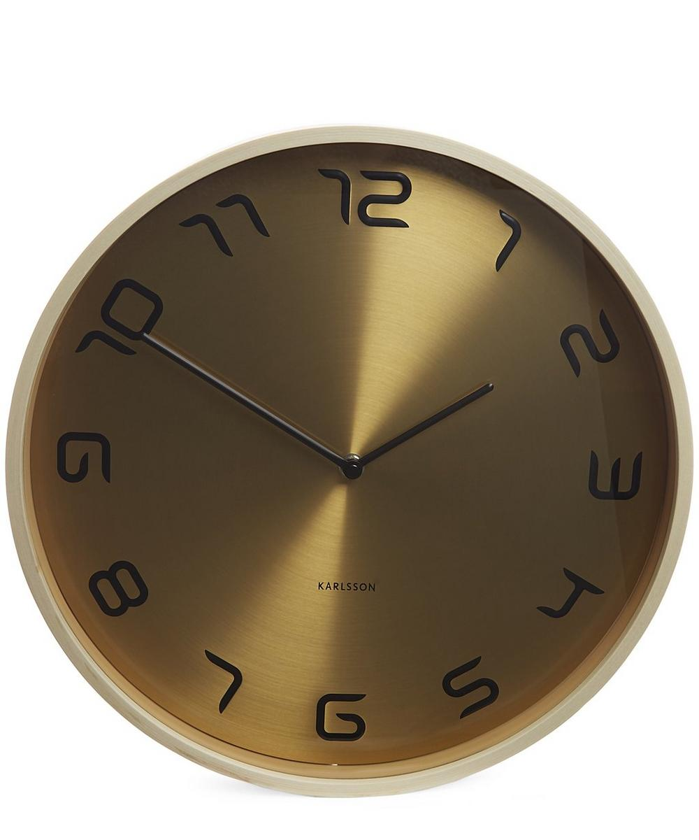 Wood and Steel Wall Clock