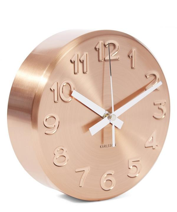 Copper Debossed Wall Clock
