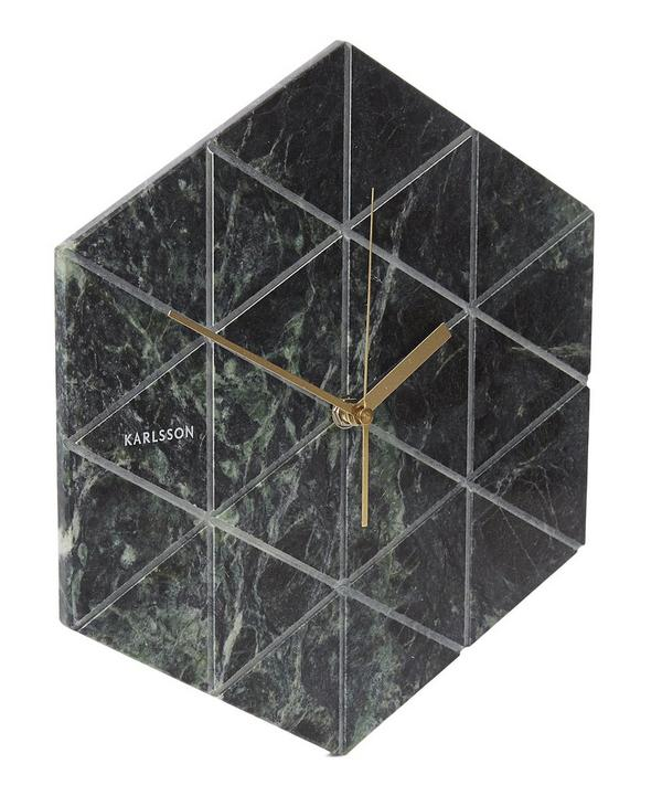 Marble Tiled Geometric Wall Clock