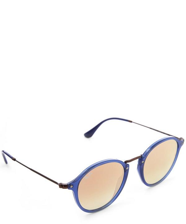 RB2447N Flat Lens Round Sunglasses