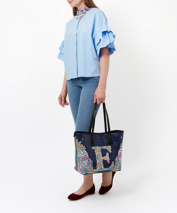 Little Marlborough Tote Bag in V Print