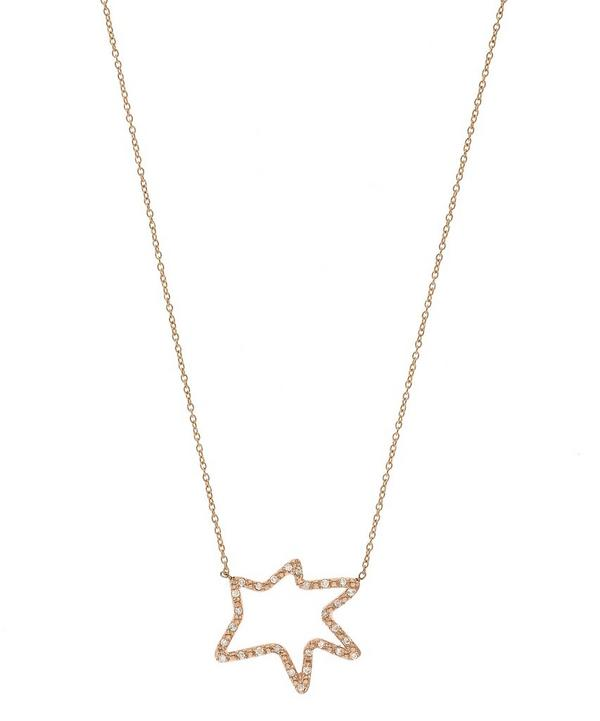 Rose Gold Diamond Roys Star Necklace