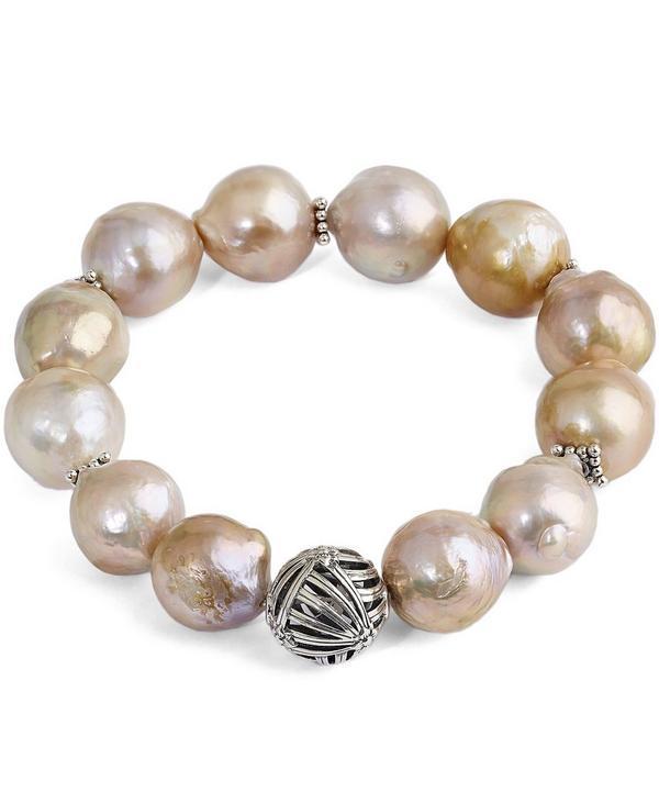 Champagne Baroque Pearl Bracelet