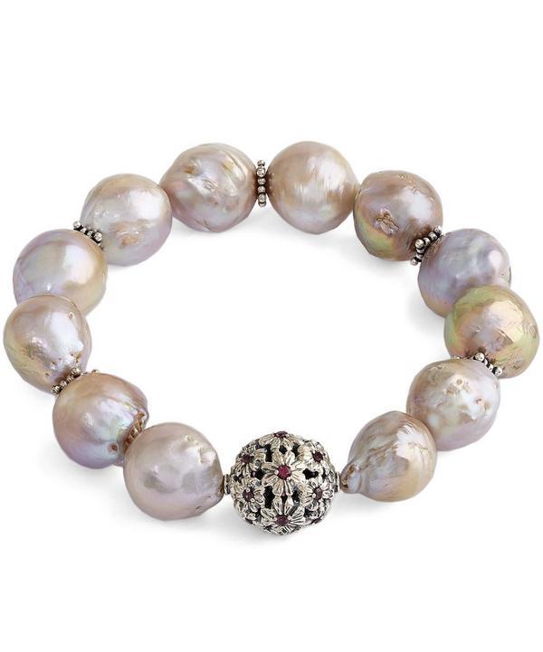 Champagne Baroque Pearl Garnet Gems