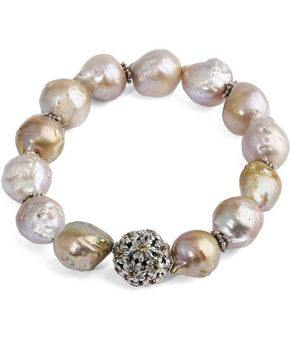 Champagne Baroque Pearl Citrine Gems