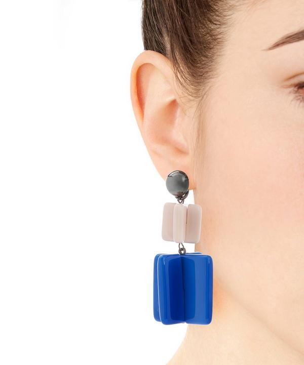 Jesse Large Lego Mood Clip-On Earrings