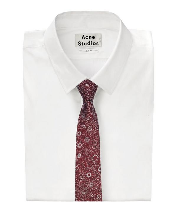 Floral Woven Tie