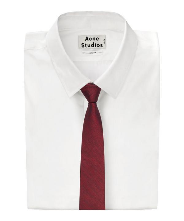 Diagonal Line Melange Tie