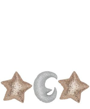 Stars and Moon Pillow Set