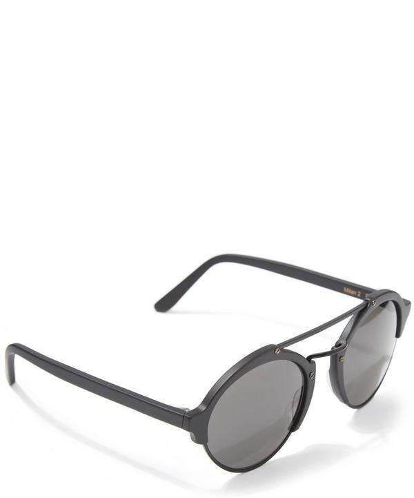 Milan II Matte Black Sunglasses