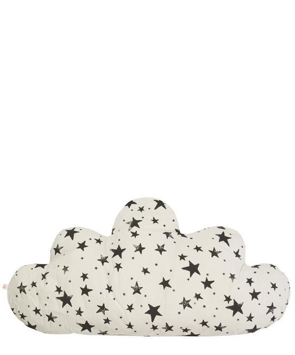 Large Cloud Star Print Pillow