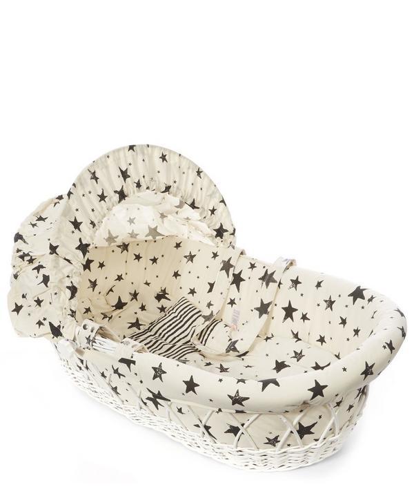 Star Print Moses Basket