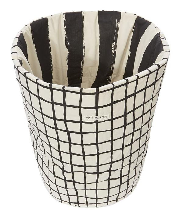 Medium Checked Stripe Storage Basket